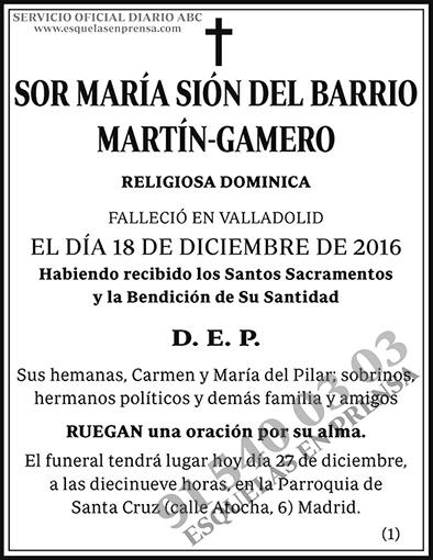 María Sión del Barrio Martín-Gamero